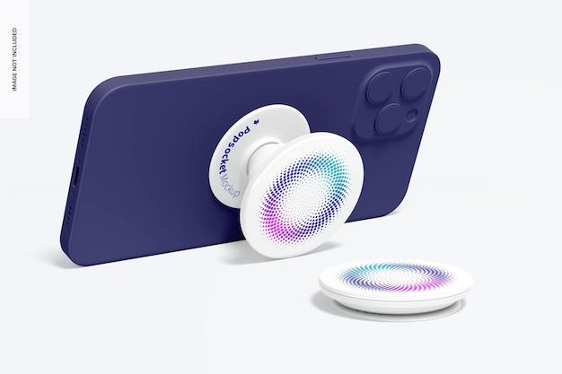 전화로 팝 소켓 모형