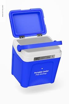 Mockup di dispositivo di raffreddamento portatile, galleggiante
