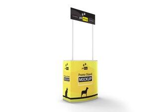 Portable promo stand mockup