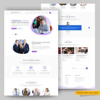 Portfolio and creative design agency landing page premium psd