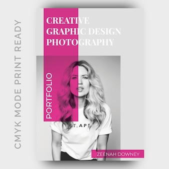 Portfolio flyer design template
