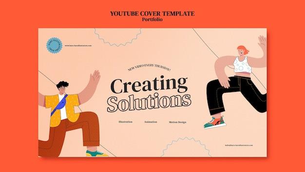 Шаблон оформления обложки портфолио youtube