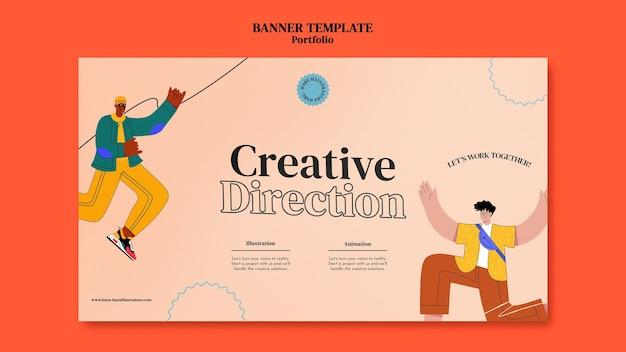 Modello di progettazione banner portfolio