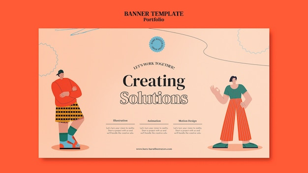 Portofolio banner design template