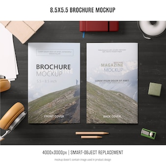 Portrait brochure mockup