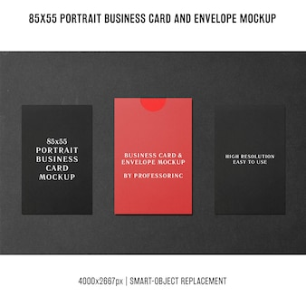 Portrait business card mockup