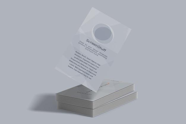 Макет портретной визитки
