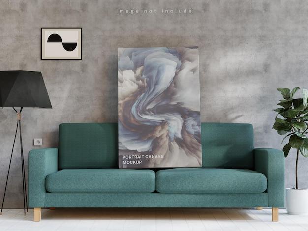 Портретный холст макет плаката