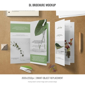 Portrait dl brochure mockup