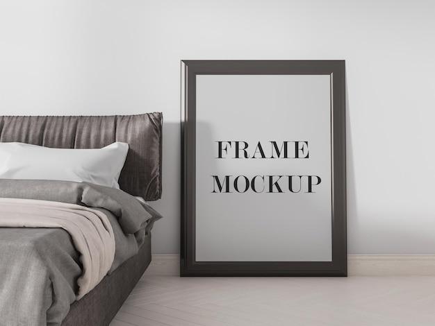 Portrait of empty frame mockup design