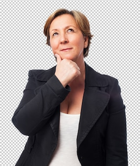 Portrait of a mature business woman thinking about something