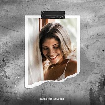 Portrait polaroid photo mockup