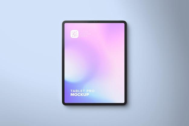 Portrait pro tablet mockup for web design