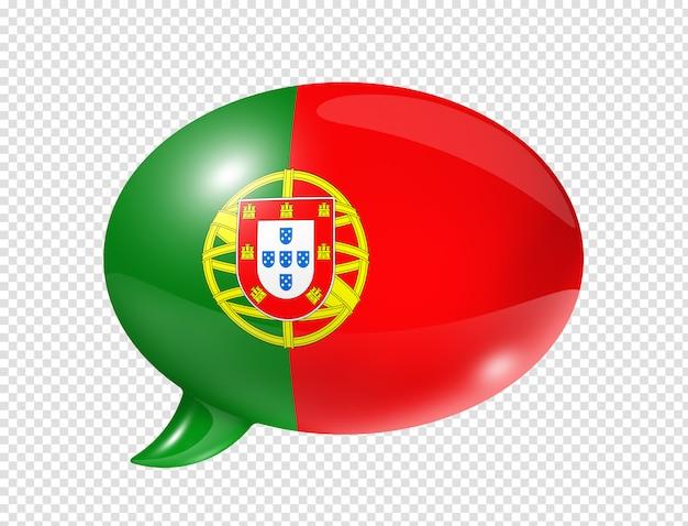 ポルトガルの旗の吹き出し