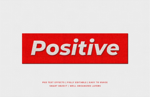 Positive 3d text style