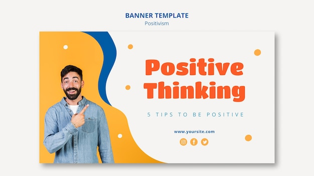 Positive thinking banner template