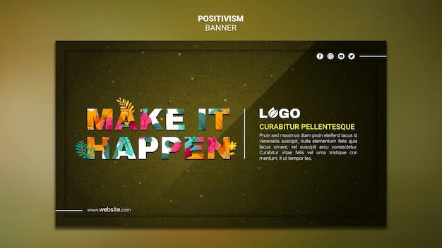 Positivism banner template