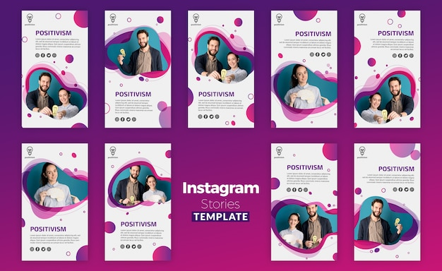 Positivism concept instagram stories template