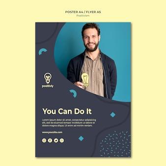 Positivismo concept design del poster
