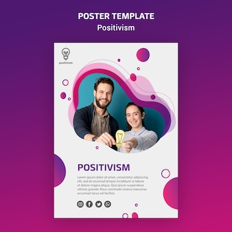 Positivism concept poster template