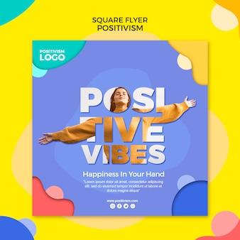 Positivism concept square flyer