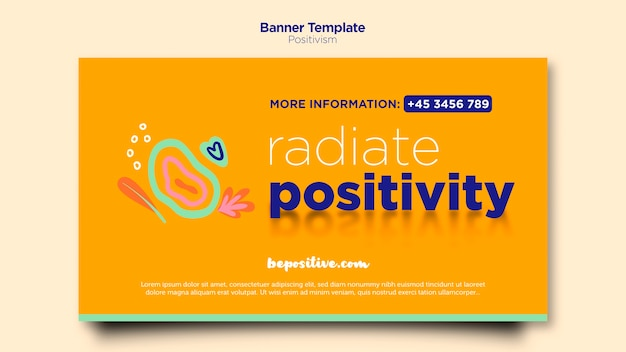 Banner messaggio positivismo
