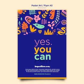 Tema del poster del messaggio positivismo