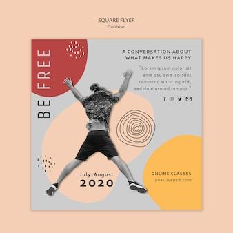 Positivism square flyer template