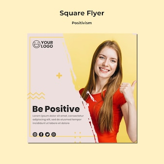 Positivism square flyer template