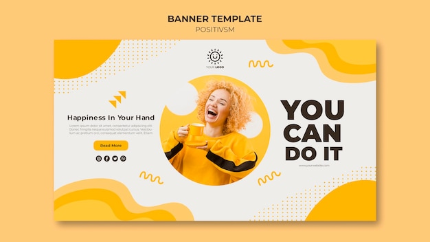Positivism template for banner concept