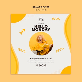 Positivism template for flyer