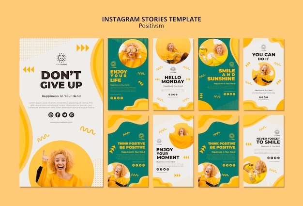 Positivism template for instagram stories