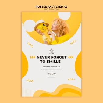 Modello di positivismo per il concetto di poster