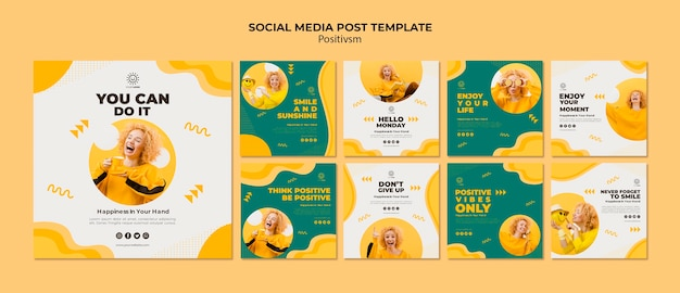 Positivism template for social media post