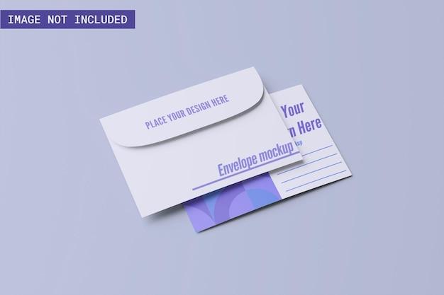 Макет открытки с конвертом