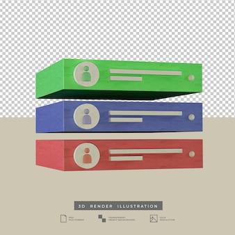 Сообщение оповещение оповещение социальные сети пастельные цвета 3d иллюстрация