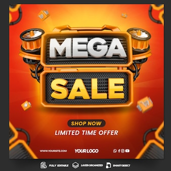 Post social media mega sale with turbine for general stores