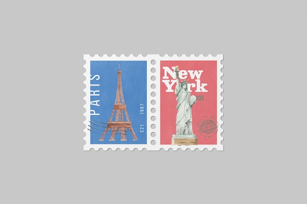 Почтовая марка макет