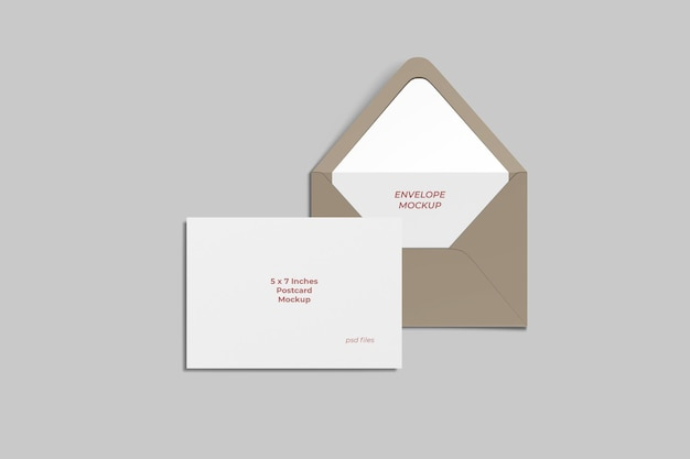 엽서 및 봉투 모형