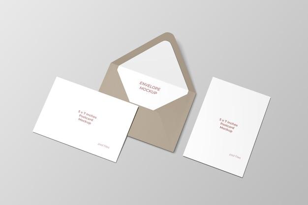 Макет открытки и конверта