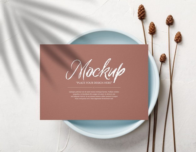Postcard and invitation card mockup template
