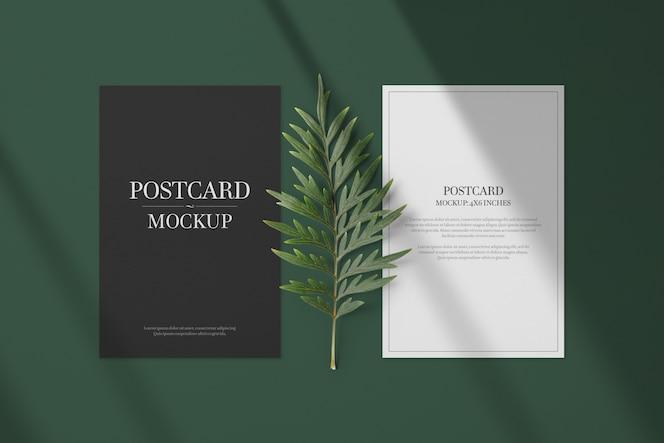 Postcard & Invitation card mockup template