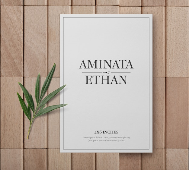 Postcard or invitation card mockup template