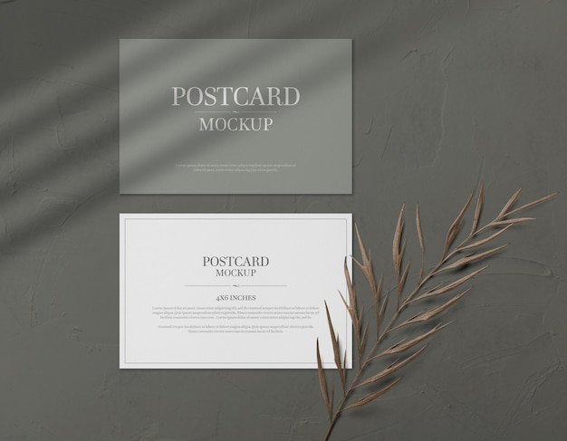 Postcard and invitation card mockup
