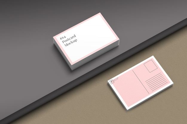 Postcard & invitation mockup 4