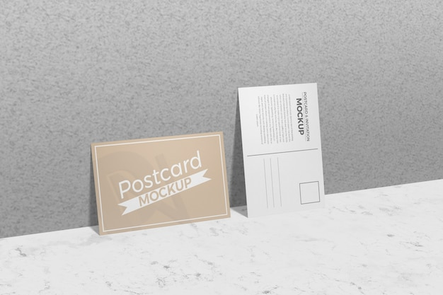Postcard and invitation mockup