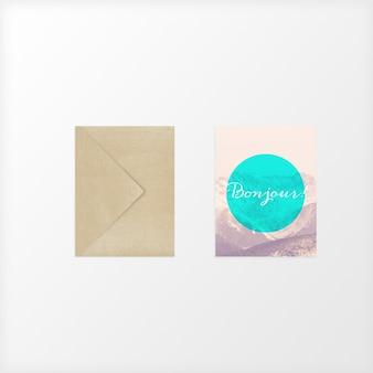Дизайн макета открытки