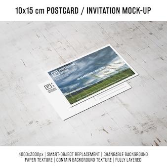 Postcard mock up di progettazione