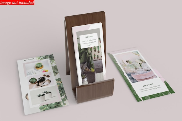 Postcard and rack of card mockup design
