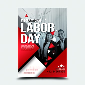 Poster 3rd sept international labor day usa